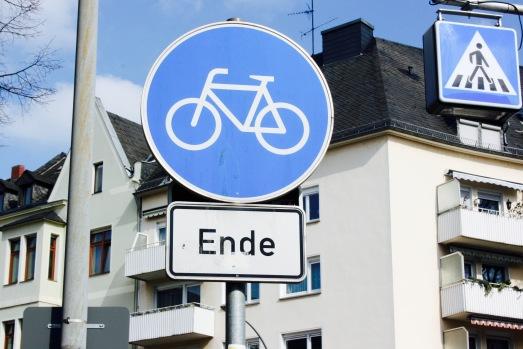 Rad Schild Koblenz Kindinkoblenz Radweg