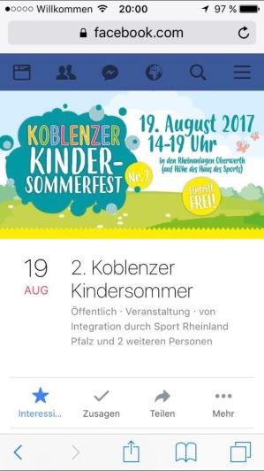 Kind Kinder Koblenz Freizeit Unternehmungen Kinderfest